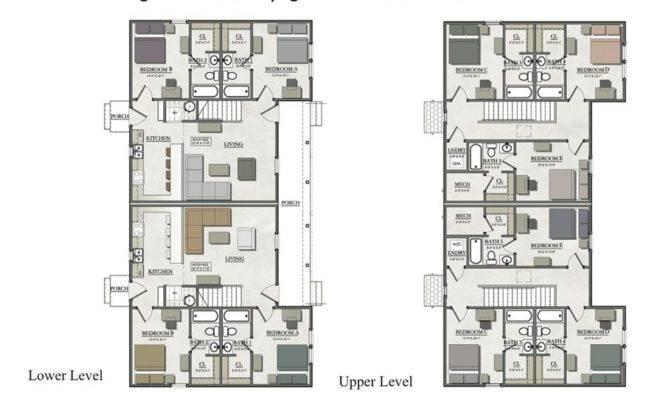Bedroom Duplex House Plans New