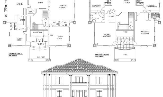 Bedroom Duplex House Plans Nigeria Escortsea