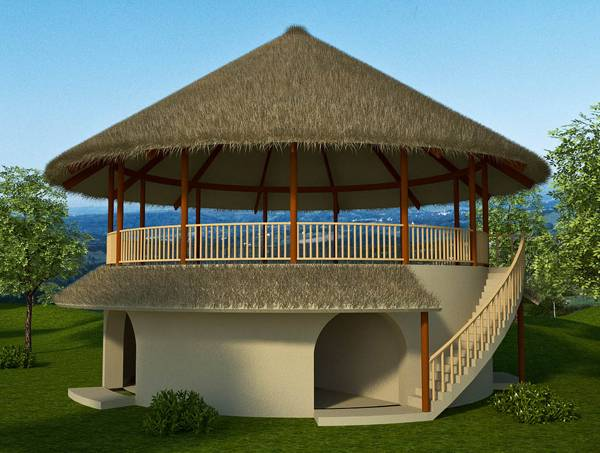 Bedroom Earthbag House Plans