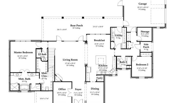 Bedroom French Acadian House Plans