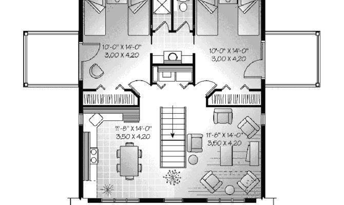 Bedroom Garage Apartment Plans Floor Plan Car