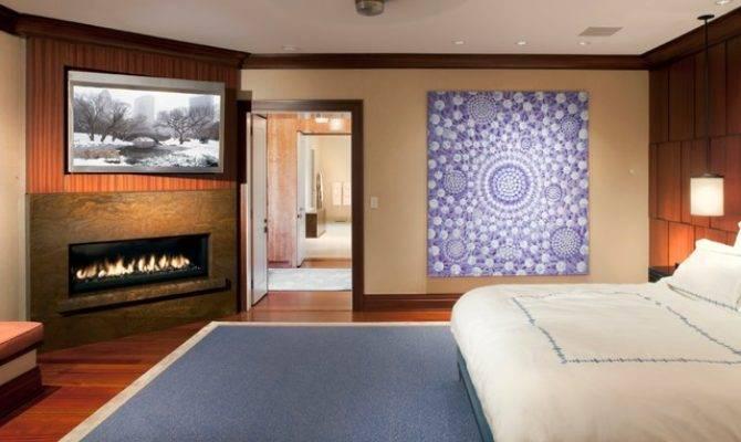 Bedroom Gas Fireplace