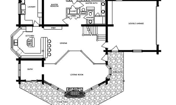 Bedroom Home Design Log Floor Plans Fireside