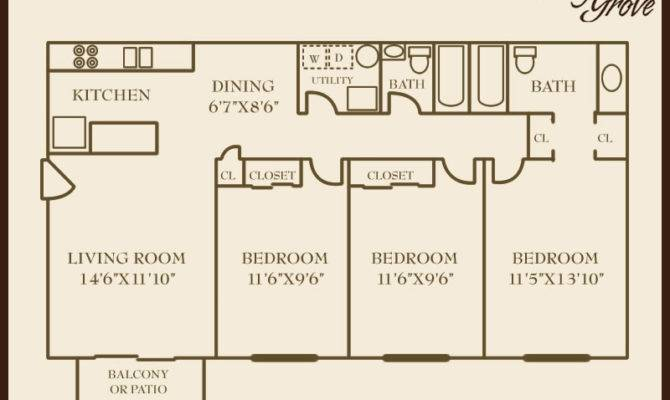 Bedroom House Floor Plans Square Feet