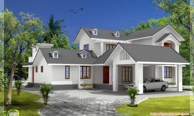 Bedroom House Gable Roof Type Design Kerala Home