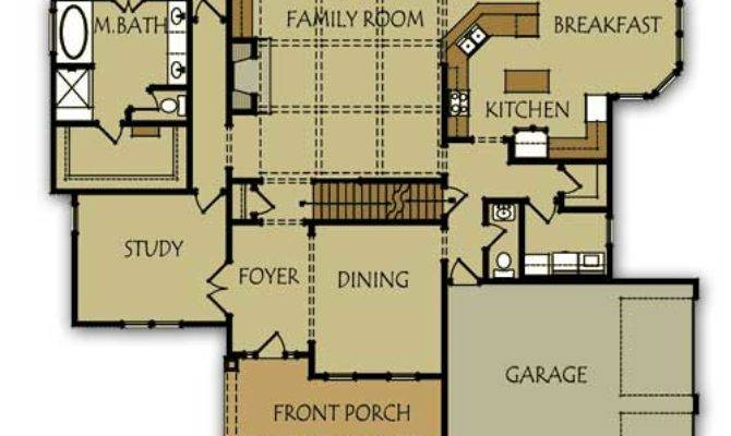 Bedroom House Plan Master Main Level