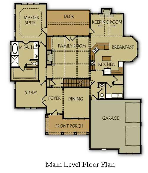Bedroom House Plan Master Main Level