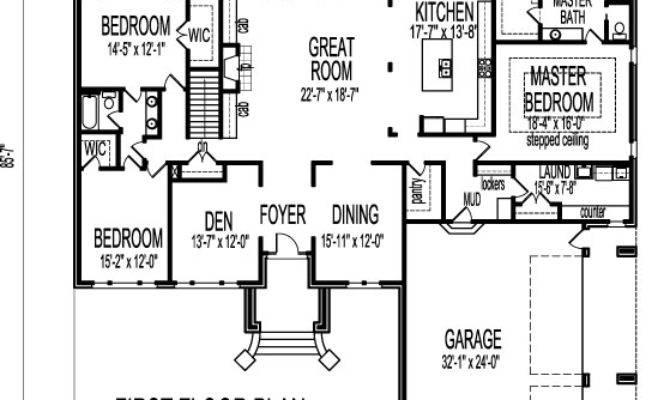 Bedroom House Plans Basement Smalltowndjs