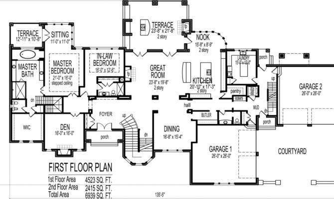Bedroom House Plans Blueprints Luxury