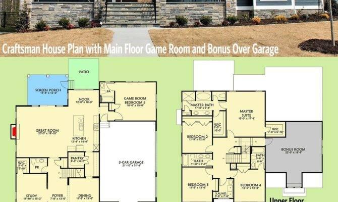 Bedroom House Plans Bonus Room Master