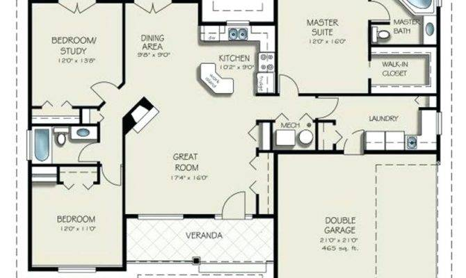 Bedroom House Plans Double Garage Australia Savae
