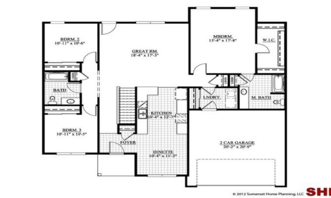 Bedroom House Plans Garage Escortsea