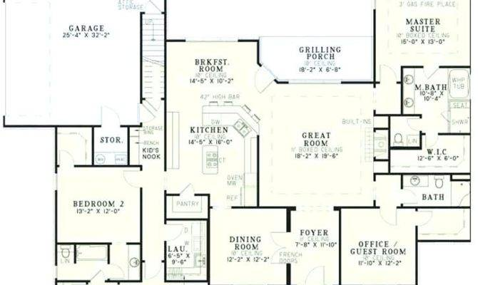 Bedroom House Plans Garage