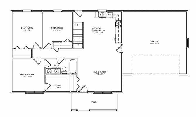 Bedroom House Three Bedrooms One Bathroom Living Room Dining