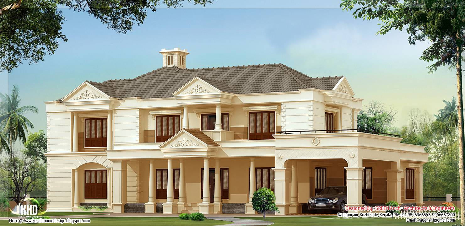 Bedroom Luxury House Design Kerala Home Floor Plans