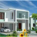 Bedroom Modern Flat Roof House Design Plans