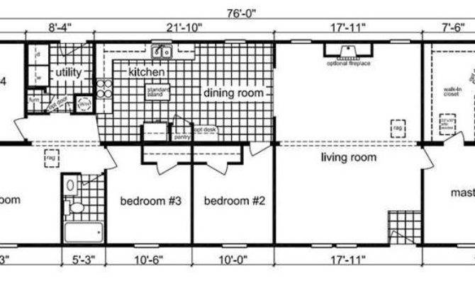 Bedroom Modular Home Floor Plan Ranch