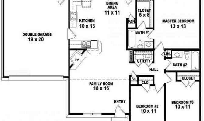 Bedroom Ranch Floor Plans Modern House Plan