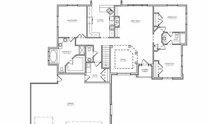 Bedroom Ranch House Plan Split