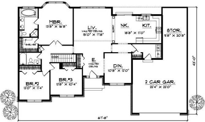 Bedroom Ranch Style House Plans Luxury