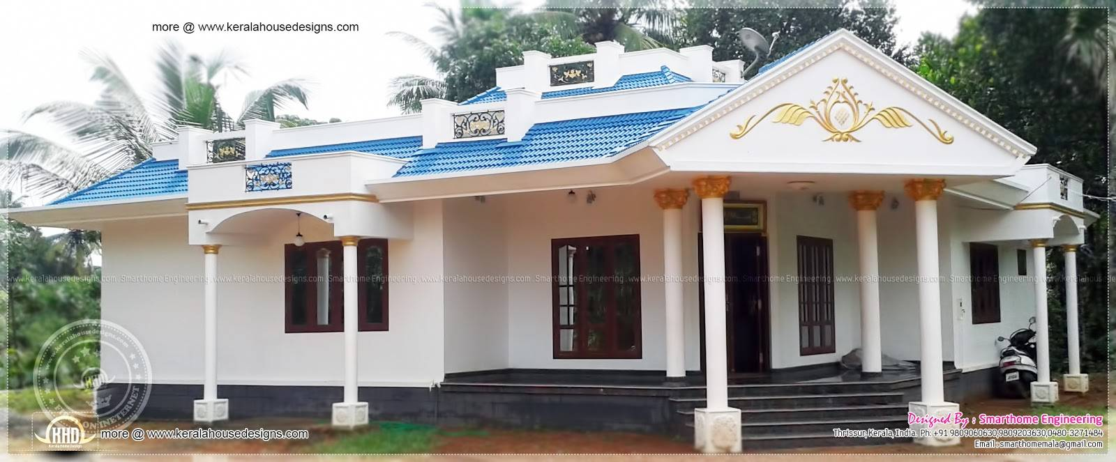 Bedroom Single Floor House Home Kerala Plans