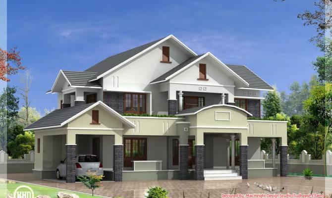 Bedroom Sloped Roof House Feet Kerala Home