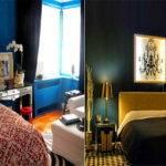 Bedroom Special Design Dark Blue Ideas Split
