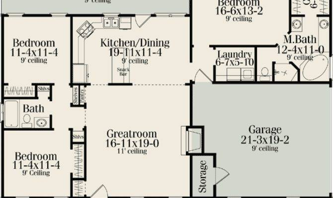 Bedroom Split Ranch Floor Plans Glif