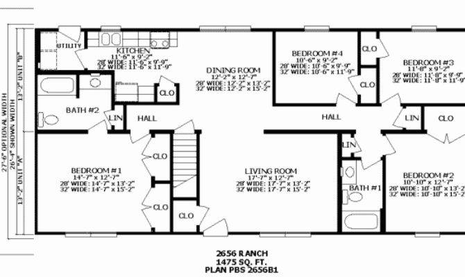 Bedroom Split Ranch Floor Plans Glif