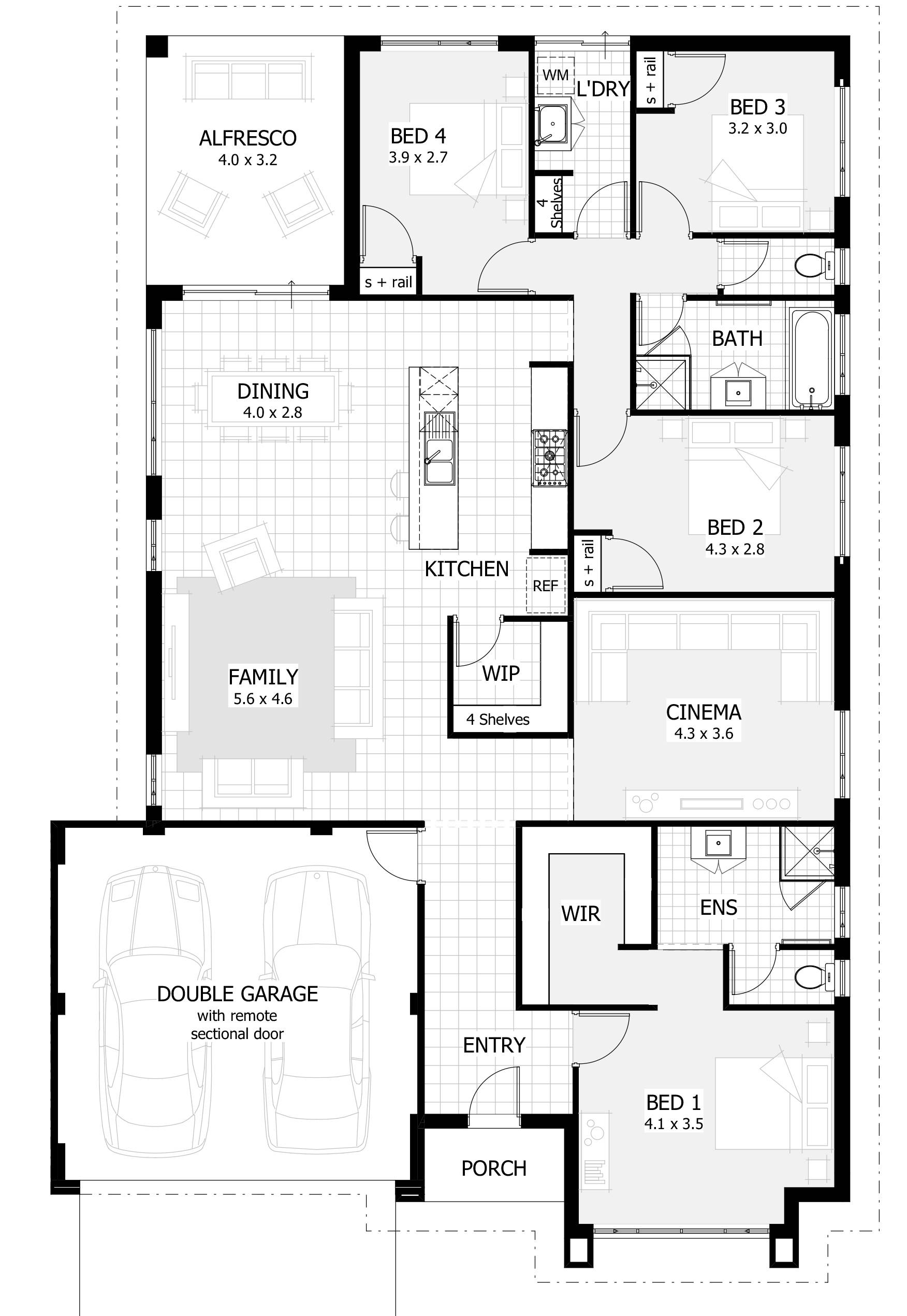 Bedroom Story House Plans Australia