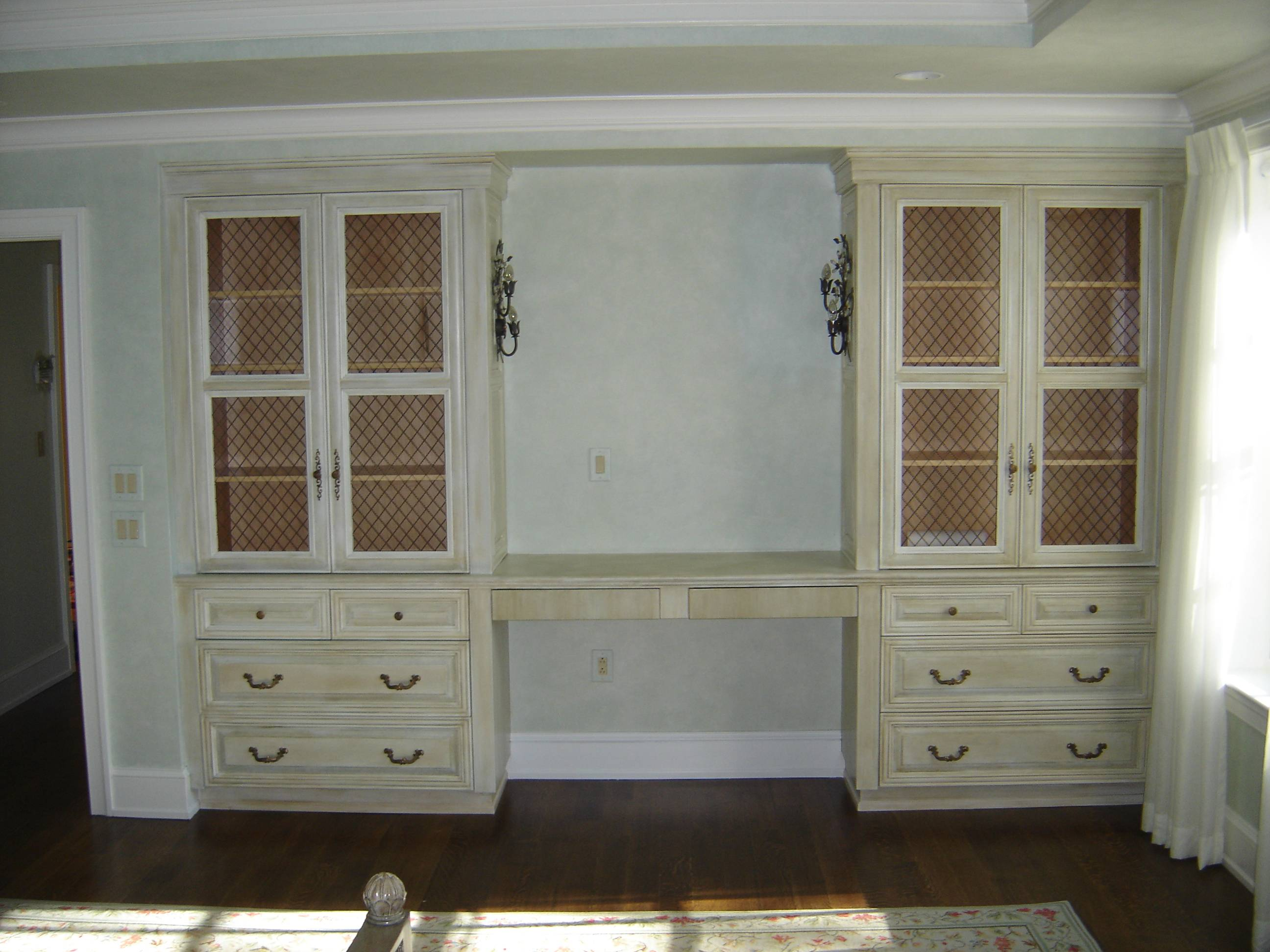 Bedroom Vanity Custom Antique Painted Finish Design Ward