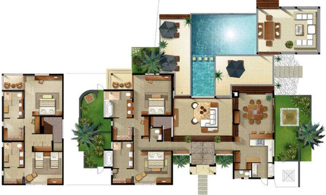 Bedroom Villa Floor Plan