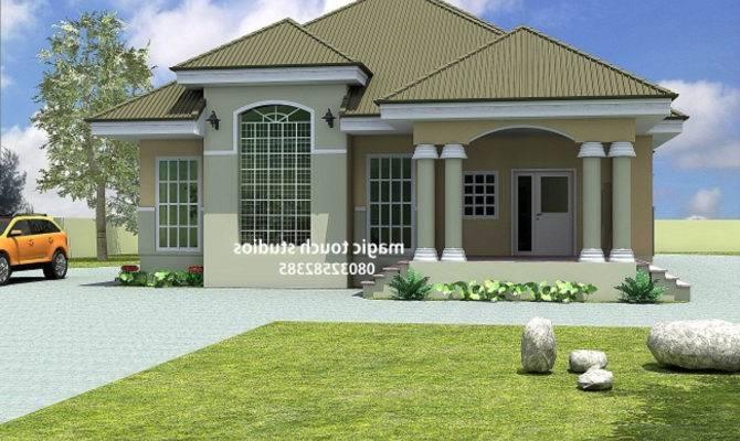 Bedrooms Bungalow Floor Plans Nigeria Home Combo