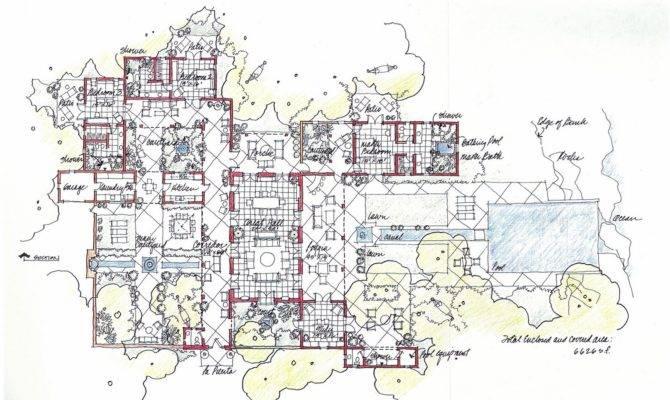 Best Hacienda Style Home Plans Courtyards