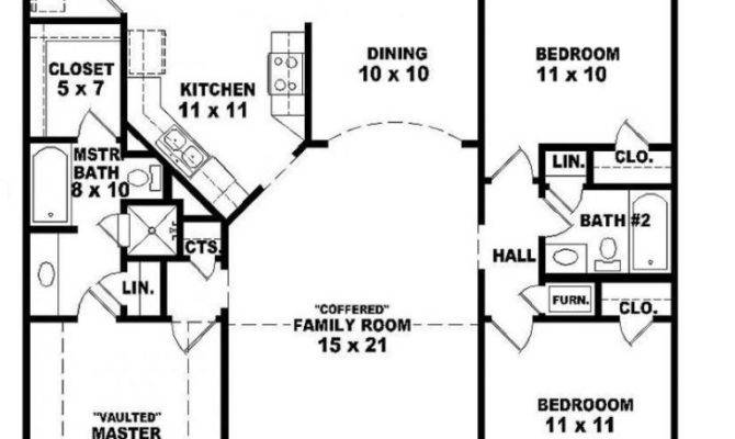 Best House Plans Bedroom Bath Ranch New Home