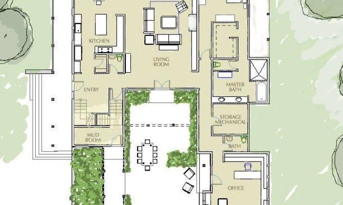 Best House Plans Pinterest Courtyard