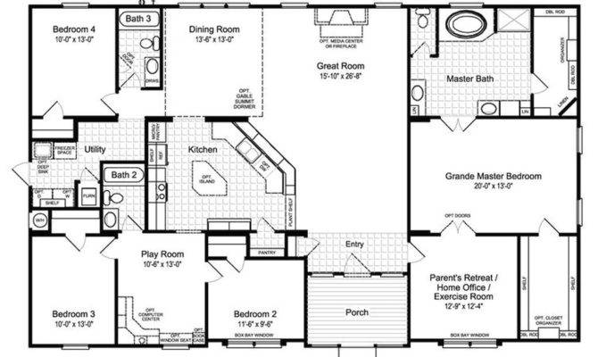 Best Ideas Bedroom House Plans Country Open