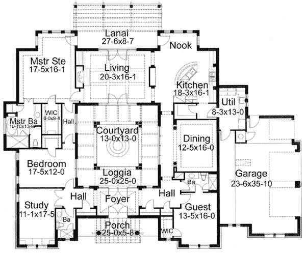 Best Interior Courtyard House Plans Ideas Pinterest