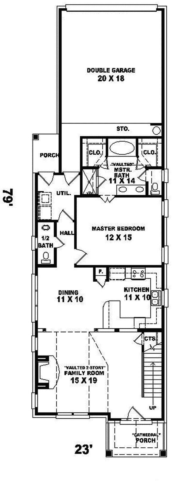 Best Narrow House Plans Ideas Pinterest