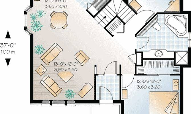 Best Open Floor House Plans Cottage Smaller