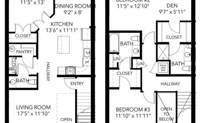 Best Townhouse Duplex Plans Pinterest