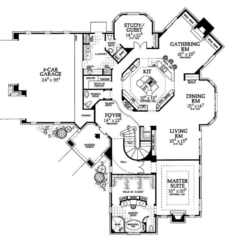 Best Unique Floor Plans Ideas Pinterest