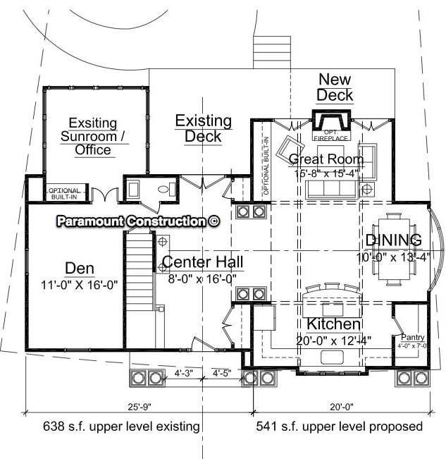 Home Additions Plan Drawings