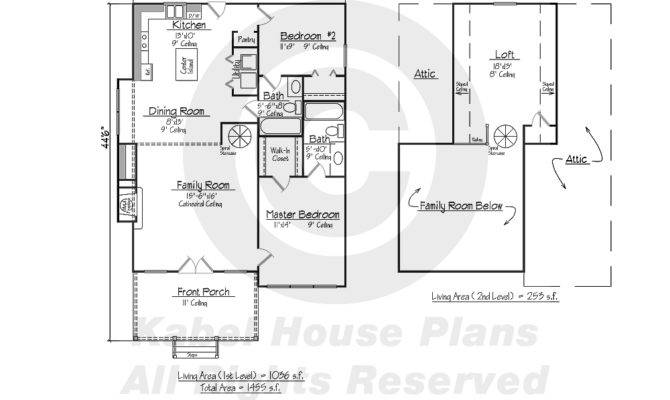 Beulah Cottage Home Plans Acadian House
