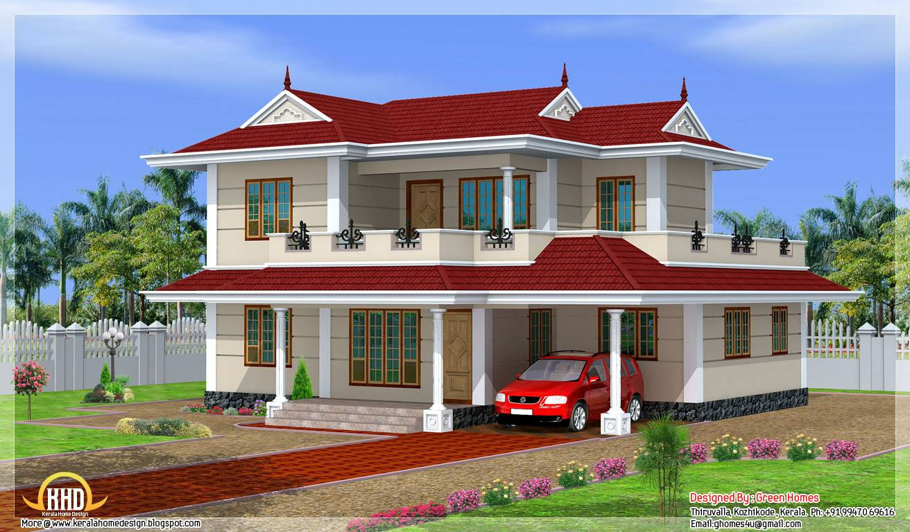Bhk Double Storey House Design Kerala Home Floor Plans