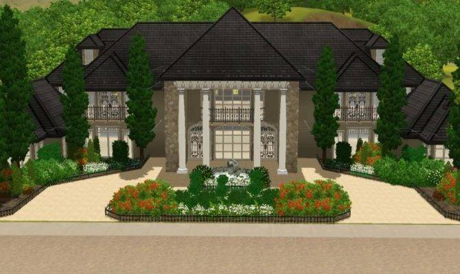 Big House Sims Plans