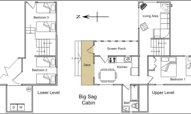 Big Sag Cabin Sleeps People Floor Plan