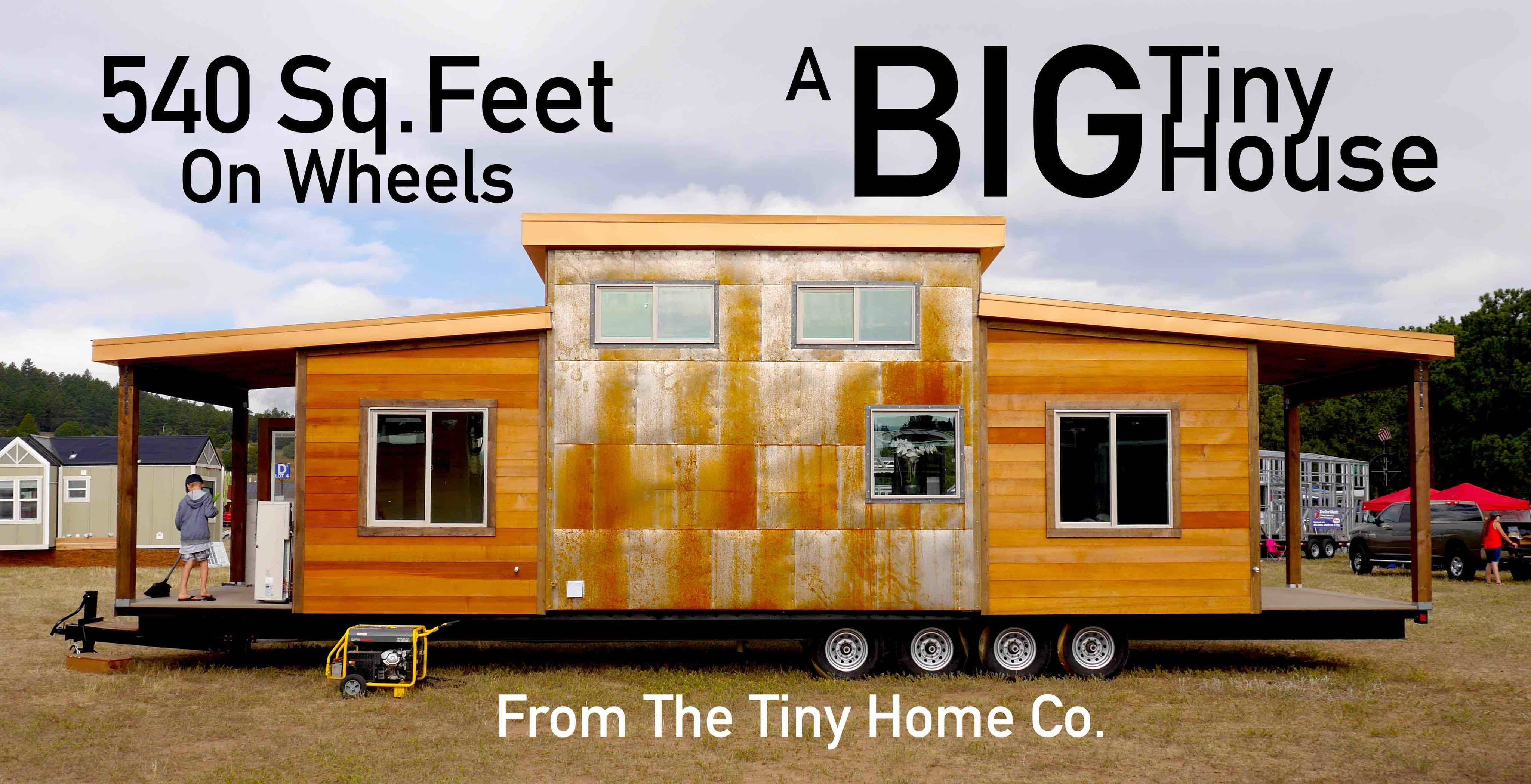 Big Tiny House Square Feet Four Axles Youtube