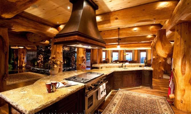 Big White Log Home Custom Built Homes Pioneer