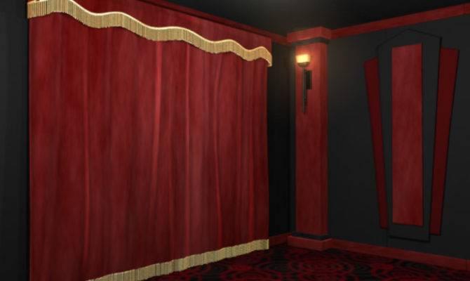 Black Velvet Home Theater Curtains Curtain Menzilperde